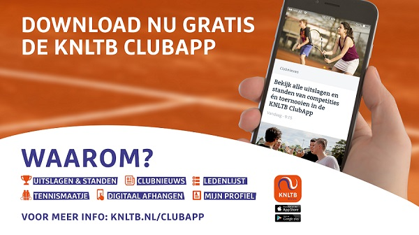 Download nu gratis de KNLTB ClupApp